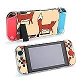 Funda protectora para Nintendo Switch, patrón con lindos zorros KidsDurable funda para Nintendo Switch y Joy Con