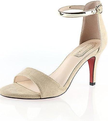 GGX  Chaussures Femme-Décontracté-Noir   Rouge   Ahommede-Kitten Heel-Compensées   Bout Arrondi-Chaussures à Talons-Autre Peau d'Animal