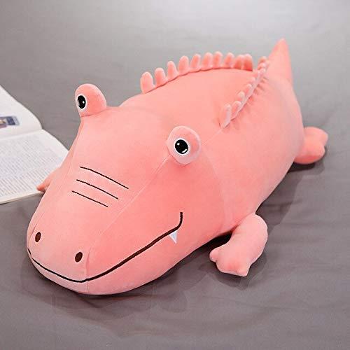 Knuffel, Superzachte Pluche Krokodil Schattig Dier Gevuld Zacht Speelgoed Kussen Krokodil Pluche Kussen Kinderen Speelgoed Verjaardagscadeau 60cm Roze
