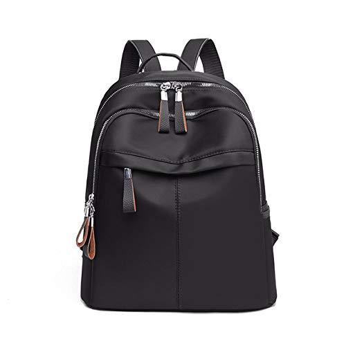 YYMMQQ Sac à Dos d'extérieur,Women Backpack Travel Casual Waterproof Women's Shoulder Bags Female Large Capacity Oxford Rucksack Black Purse,Black