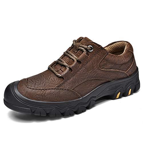 IENNSA Zapatillas de Senderismo para Hombre de Cuero Genuino de Primera Calidad Zapatos de Senderismo a Prueba de Agua Zapatos de Deportes de Escalada al Aire Libre Trekking Trainers