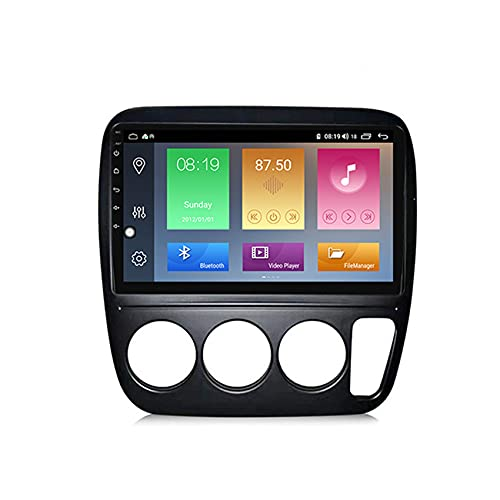 ADMLZQQ Android Doble DIN Radio De Coche Navegacion GPS para Honda CR-V 1997-2001 Coche Reproductor MP5 Radio FM Enlace Espejo Control del Volante con Cámara Trasera,M600 6+128g