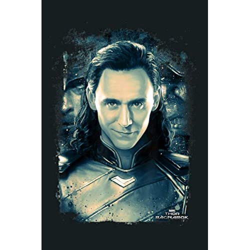 Marvel Thor Ragnarok Loki Distressed Portrait: Notebook Planner -6x9 inch Daily Planner Journal, To Do List Notebook, Daily Organizer, 114 Pages