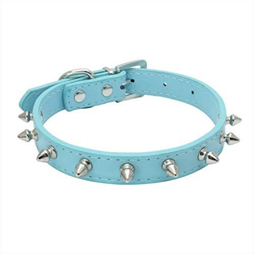 Haustier Rivet Anti-bite-Halsband for Hunde und Katzen-Haustier-Zubehör Kragen, Größe: L (Color : Blue)