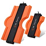 10''& 5''Contour Gauge Shape Duplicator Set, Contour Rulers with Lock Measure Tool for Corners and...