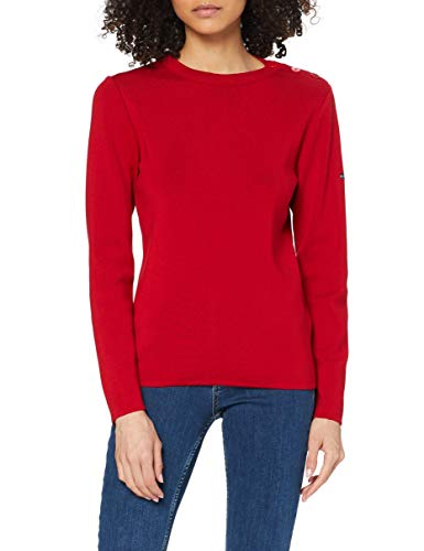 """Armor Lux, Pull Marin """"Briac"""" Femme, Rouge (296 Braise 296) , 36 (Taille fabricant: 0)"""