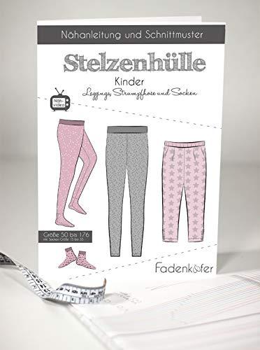 Schnittmuster und Nähanleitung - Kinder Leggings Strumpfhose Socken Stelzenhülle