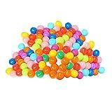 DealMux 200 pelotas de juego de plástico blando con 8 colores brillantes, a prueba de aplastamiento, sin bordes afilados, no tóxicas, sin ftalatos ni BPA, para uso en piscinas de bolas para bebés o n