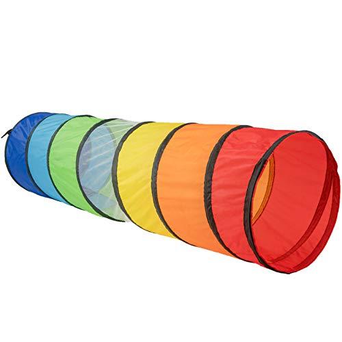 NUBUNI Tunel Plegable para Niños 180 cm : Tunel Infantil : Tunel para niños : Tunel Niños : Túnel : Tunel psicomotricidad : Color Connection A ✅