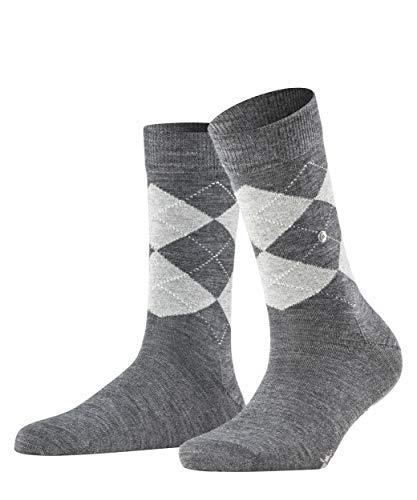 Burlington Damen Lurex Marylebone Socken, grau (dark grey 3070), 36-41