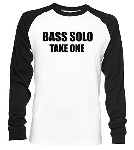 Bass Solo, Take One Unisex Baseball T-Shirt Langarm Herren Damen Weiß Schwarz