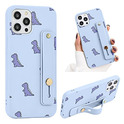 ZhuoFan Funda para Xiaomi Mi 10 Lite 5G Dibujos Púrpura Silicona Cárcasa con Soporte Diseño Suave TPU Antigolpes de Protectora [Moda y Practico] Case Fundas para Xiaomi 10 Lite 5G, Dinosaurio 2