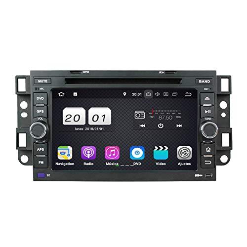 Android 8.1 Autoradio Coche para Chevrolet Aveo/Epica/Lova/Spark/Optra/Captiva, 2 GB RAM 16 GB ROM, 7 Pulgadas Pantalla Táctil Reproductor de DVD Radio Bluetooth Navegación GPS