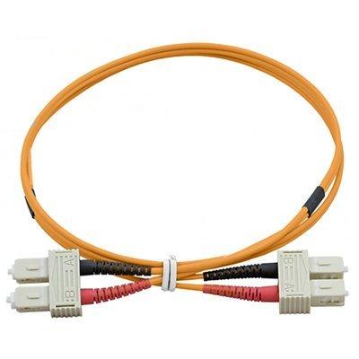 DigitX.it Cable de fibra óptica – Patch Cord SC Multimodo Duplex Orange...