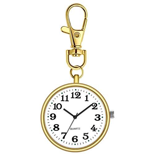 Xu Yuan Jia-Shop Reloj de Bolsillo Reloj de Bolsillo Reloj de Bolsillo portátil Mini Retro Ancianos de Mediana Edad Llavero Reloj electrónico del Reloj en el Pecho Reloj de Bolsillo Vintage