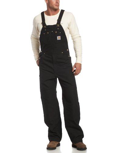 Carhartt Workwear Latzhose Duck Bib Overall, Arbeitshose, Größe 40 / 28, schwarz R01BLK