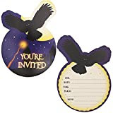 Wizard Birthday Party Invitations with Envelopes (5 x 7 in, Purple, 36 Pack)