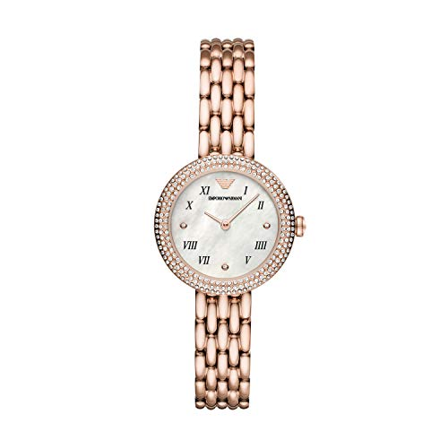 Emporio Armani Reloj Analógico para Señoras de Cuarzo con Correa en Acero Inoxidable AR11355