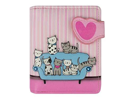 Geldbörse Katzensofa pink - bb-Klostermann 51208 - Geldbeutel Portemonnaie