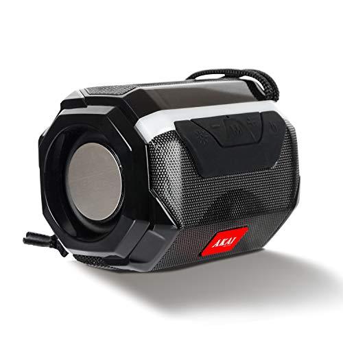 Akai Blitz BZ05 Portable Wireless Bluetooth Speaker with 5W Premium Sound,Robust Bass,Splash Resistance,Inbuilt FM,Led Equalizer,Upto 8 hrs Playtime(Black)
