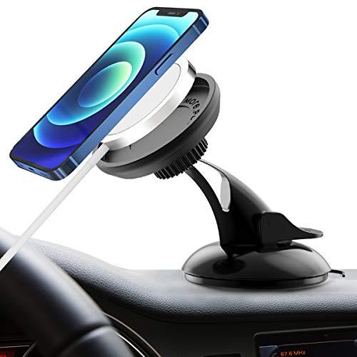 BESINPO Soporte para coche Magsafe, doble aspiración 360 grados rotación, soporte para teléfono para iPhone 12 Mini, iPhone 12, iPhone 12 Pro, iPhone 12 Pro Max