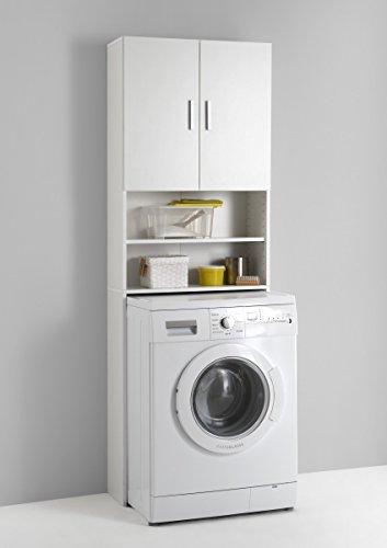 Dreams4Home Waschmaschinenschrank 'Lucy', Waschmaschinenüberbauschrank, weiß