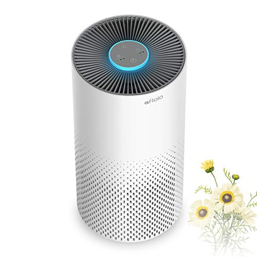 Air Purifier for Home Smokers 99.99% Effective,520 ft², 22db |True H13 HEPA Medical Grade Filter Air Cleaner Removing Allergies, Odor Dust and Pollen for Bedroom And Office, With 7 Color Night Light