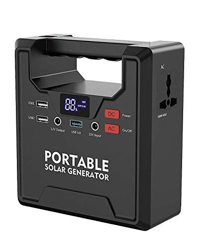 X-DRAGON Tragbarer Generator 145Wh/39000mAh Solar Stromerzeuger Stromgenerator 220V AC 12V DC und USB Ausgang Tragbarer Solar Wechselrichter for Emergency Outdoor