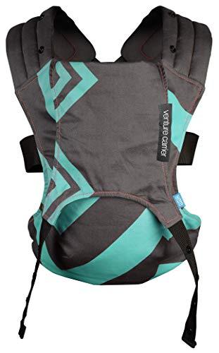 Diono We Made Me Venture 2 in 1 Anteriore e Posteriore Indossato Baby Carrier, da 3,6-15,9 kg, Menta Carbone Zigzag,