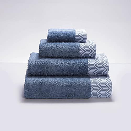 Sancarlos Roble-Toalla de Baño, Algodón 100%, Color Azul Marino, Tamaño 100x150 cm