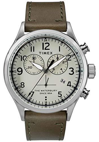 Timex Reloj Cronógrafo para Hombre de Cuarzo con Correa en Cuero TW2R70800