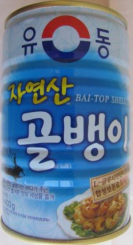 韓サイ*韓国缶詰★自然産 つぶ貝 缶詰 400g