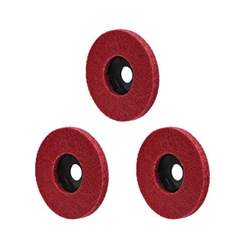 Ruedas de pulido de 5 pulgadas para 100 amoladoras angulares rojas 3 piezas