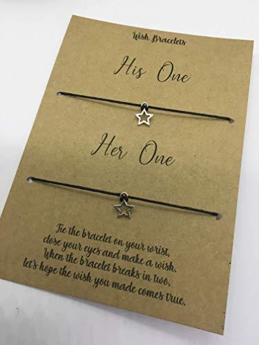1 x Wish Bracelet Thankyou Loved One Anniversary Valentines Friendship Isolation Thinking of you