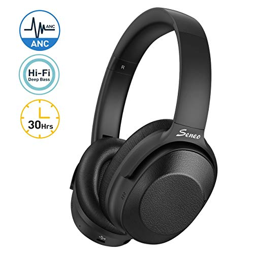 Seneo hybrid active noise-cancelling Bluetooth over-ear headphones