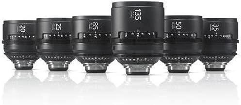 Sony SCLPK6/F PL Mount Lenses, 6 Lens Kit - 20mm T2 Prime Lens, 25mm T2 Prime Lens, 35mm T2 Prime Lens, 50mm T2 Prime Lens, 85mm T2 Prime Lens, 135mm T2 Prime Lens