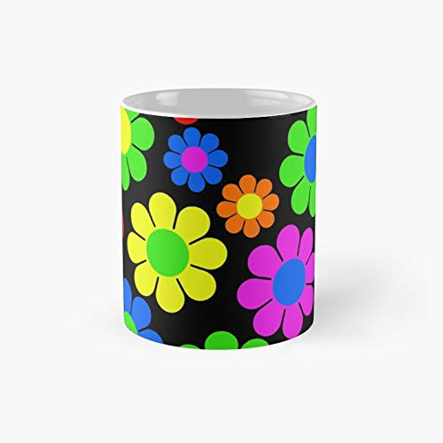 Hippy Flower Daisy Spring Pattern Classic Mug Best Gift Funny Coffee Mugs 11 Oz