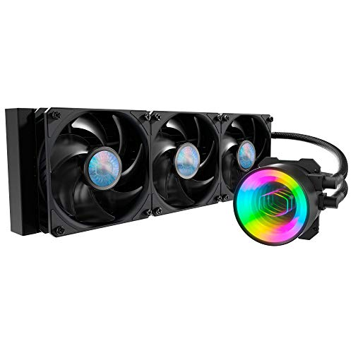 Cooler Master MasterLiquid ML360 Mirror ARGB Close-Loop AIO CPU Liquid Cooler, Mirror ARGB Pump, 360 Radiator, Triple SickleFlow 120mm, 3rd Gen Dual Chamber Pump for AMD Ryzen/Intel LGA1200/1151
