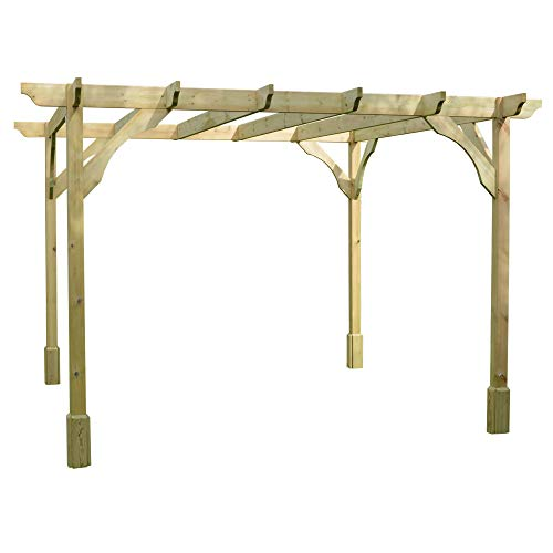 Rutland County Garden Furniture *B GRADE* Premium Pergola - Available In Different Sizes & In Either Rustic Brown or Light Green. (2.4m x 2.4m, Light Green)