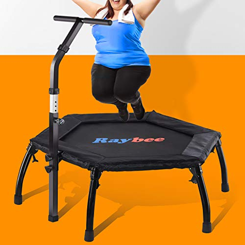 """Raybee Mini Trampoline for Adults 40"""" Rebounder Trampoline with..."""