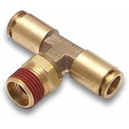 Helix 12203 3/8' NPT Male to 3/8' Push Tube T Air Fitting