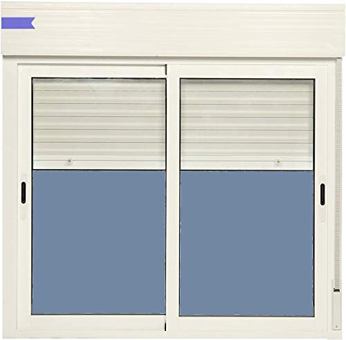 Ventanastock Ventana Aluminio Corredera Con Persiana PVC 1200 ancho × 1155 alto 2 hojas