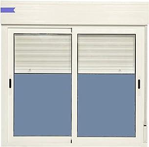 Ventana Aluminio Corredera Con Persiana PVC 1200 ancho × 1155 alto 2 hojas