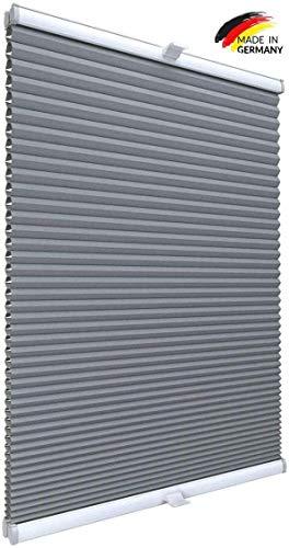 Gardinen21 Thermo Wabenplissee nach Maß in der Glasleiste mit Montage | Waben Plissee im Wunschmaß | Maßgefertigt für Türen & Fenster | Sonnenschutz, Sichtschutz, Schallschutz 100% Verdunkelung
