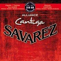 CUERDAS GUITARRA CLASICA - Savarez (510/AR) Alliance Cantiga Roja Tension Normal (Juego Completo)