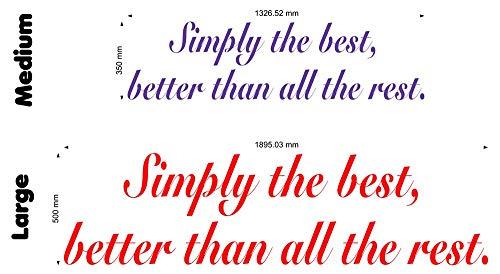Preisvergleich Produktbild Wonderous Wall Art Wandtattoo,  Motiv Simply The Best 2 (Tina Turner),  groß,  Schwarz