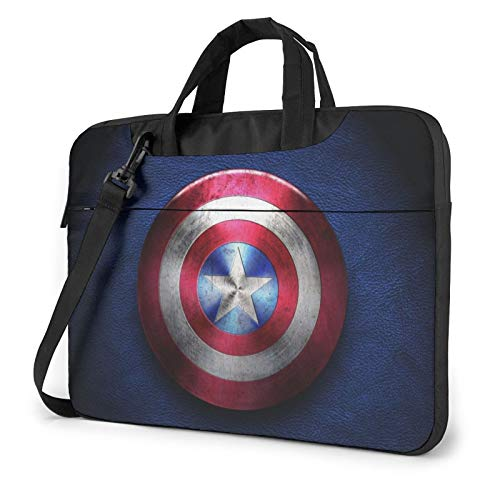 Cap-Tain America Laptop Shoulder Bag Compatible with 13-15.6' Carry Briefcase Sleeve