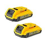 DEWALT 2 baterías DCB183 18V XR 2.0ah para DCD785, DCD985, DCF885, DCS391, DCS331, 18 V