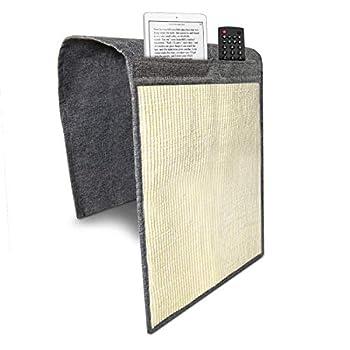 Navaris Tapis griffoir pour Chats - Protection canapé Meuble Sol - Tapis en sisal et Lin 130 x 45 cm avec Compartiments - Adapté pour Chaton Chien
