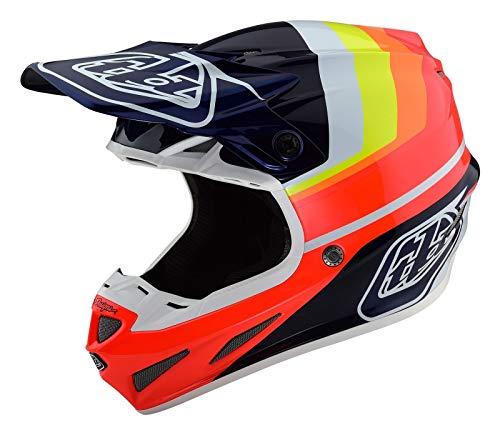 Troy Lee Designs 2019 TLD SE4 Carbon MX Helm Mirage Blau/Rot, Auto und Motorrad, SE4, blau/rot, XL
